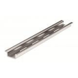 DIN-рейка металлическая, OMEGA 2F (с перфорацией) 15x5,5x1, длина 2 м